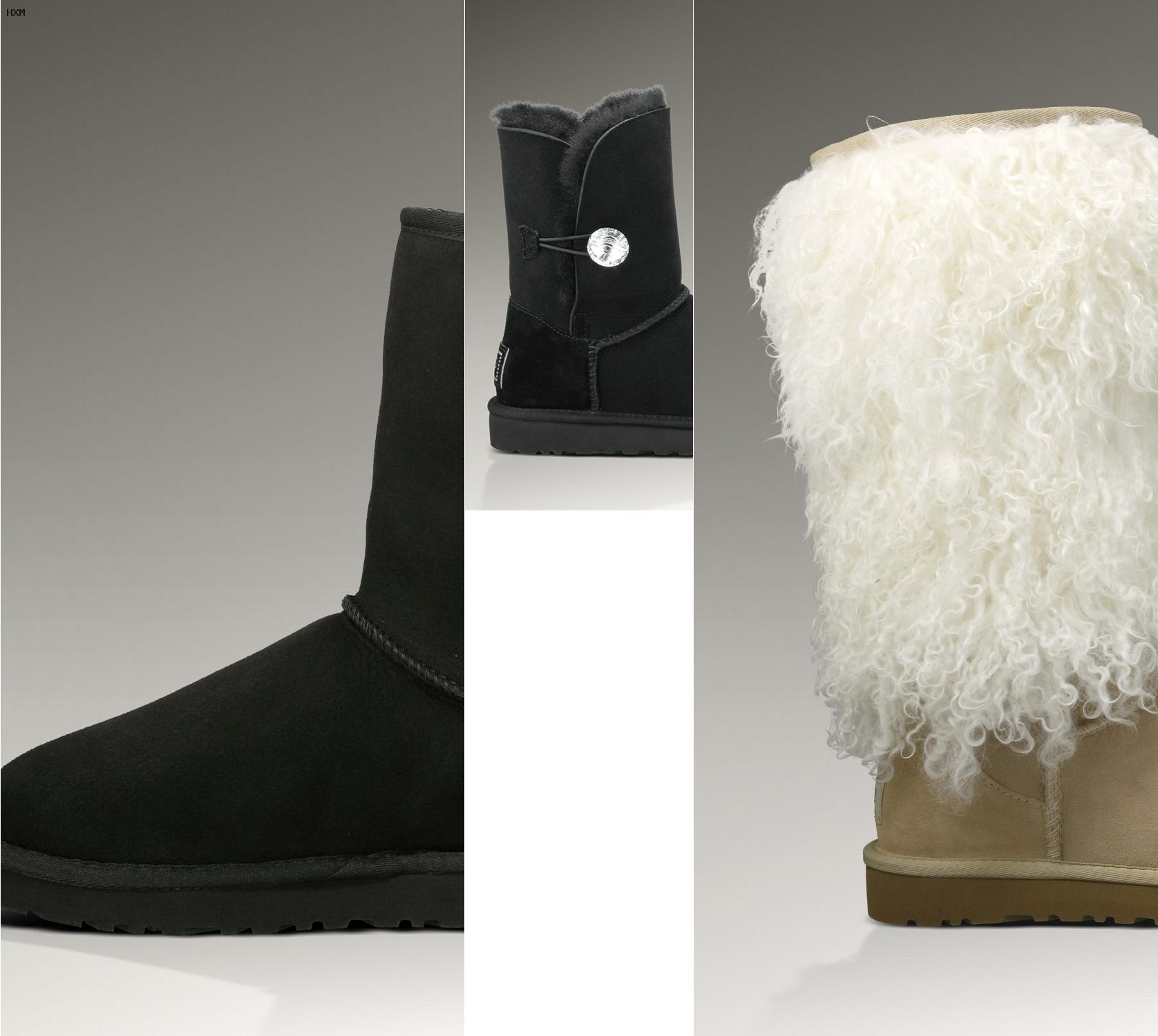 botas ugg con lazo de lana mini bailey knit bow